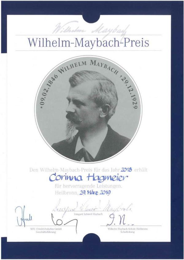 Ehrung mit dem Maybach-Preis