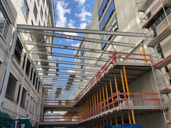 Klinikum Stuttgart – Dachkonstruktion