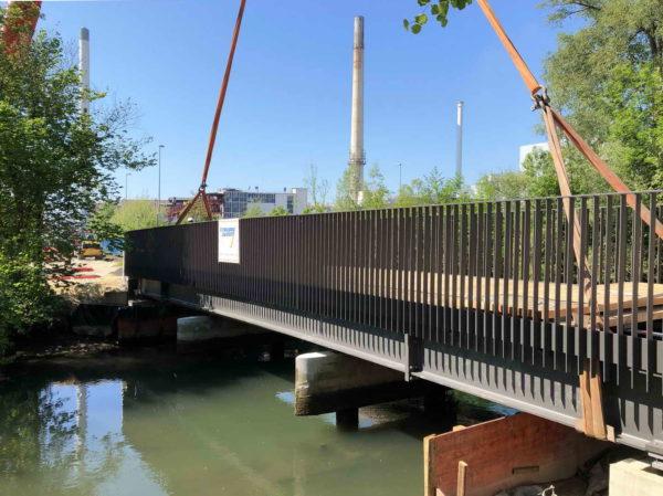 Ulm, Blautalkonzept BA 2 / Stahlbrückenbau inkl. Holzbelag